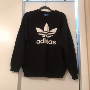 Adidas Originals Trefoil Black Crewneck Sweatshirt